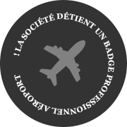 Badge professionnel aéroport